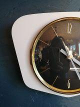 """Horloge vintage, pendule murale """"Mauthe Blanche et Noire"""""""