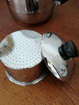 Service à café Art Déco chromé