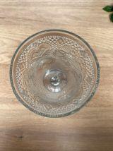 Calice en verre moulé