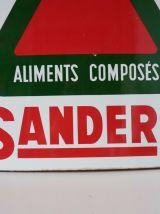 ANCIENNE PLAQUE EMAILLEE  » SANDERS aliments composés VITRAC