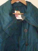 Manteau J.RiU - style anorak long-vert foncé avec reflet-Tai