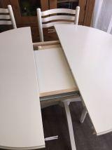 Table style rétro + 4 chaises