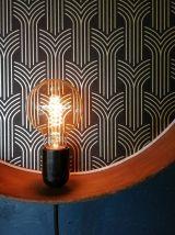 """Applique vintage, lampe murale  Tamis """"Noir Doré"""""""