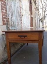 Table de ferme en noyer époque 19eme