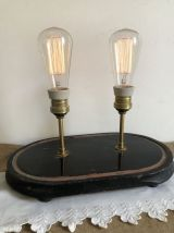 Lampe sur socle, double éclairage