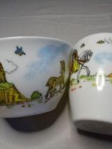 1 gobelet+1 tasse Walt Disney années 60 ornamine