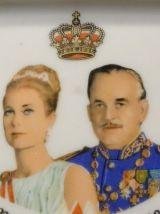 Cendrier, vide-poches Monaco prince Rainier et Grâce Kelly