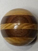 Boule vintage de levier de vitesse bois multicolore 2