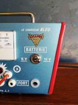 """Lampe vintage, lampe industrielle """"Le Chargeur Bleu"""""""