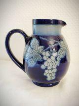 Pichet en grès bleu d'Alsace signé Paul Schmitter