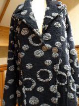 manteau long 100% laine vierge bouillie T.44