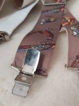 Vintage bretelles élastiques imprimées animaux