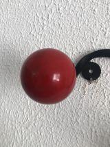 Portemanteaux vintage 1960 4 patères boules - 55 x 15 cm