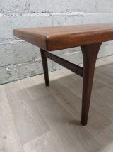 Table basse scandinave vintage en teck, années 60