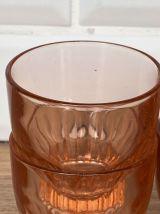 4 verres à eau Luminarc années 50