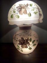 Lampe champignon en verre A.NAUDY