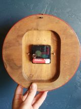 "Horloge vintage, pendule murale ""SMI noire et rouge"""