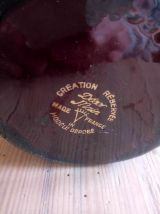 Pichet en céramique émaillée signée Tess - Années 50/60