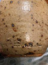 Broc en grès pyrité signé Baudart