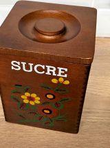 Série de 4 pots à épices en bois