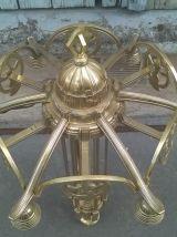 Lustre en bronze et laiton époque art déco