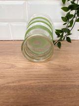Vase en verre granité