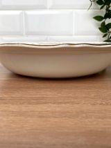 Plat creux légumier  en demi-porcelaine L'amandinoise