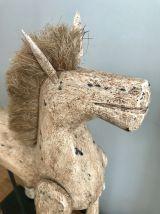 Sculpture de Cheval en bois articulé - Thaïlande -