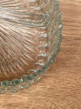 Plat à apéritif à compartiments en verre