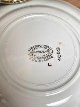 Set de 6 assiettes plates en demi-porcelaine l'Amandinoise