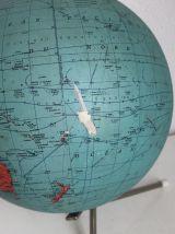 Globe vintage 1965 terrestre doré tripode Taride - 28 cm  (c