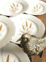 Lot de 8  belles assiettes à dessert en porcelaine Vintage