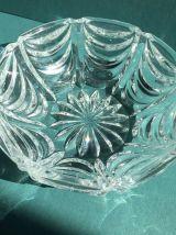 Magnifique boîte à bijoux ou bonbonnière en cristal vintage