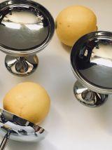 Lot de 6 jolies coupes à glaces en inox vintage