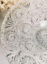 Superbe coupe à fruits vintage en verre épais moulé