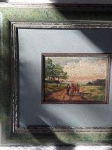2 anciennes petites peintures sur bois à l'huile signées
