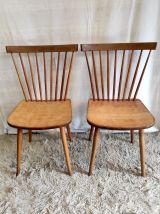 Duo de Chaises à barreaux style scandinave – années 50