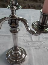 Candélabre Christofle  modèle Chenonceau Métal argenté