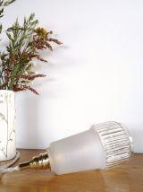 """Lampe Baladeuse vintage, suspension verre """"Blanche"""""""