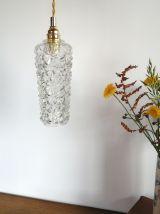 "Lampe Baladeuse vintage, suspension verre ""Gemma"""