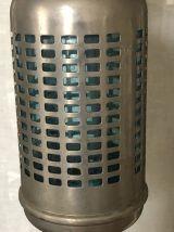 Ancien siphon bleu avec cage