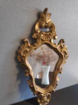 miroir baroque en stuc doré