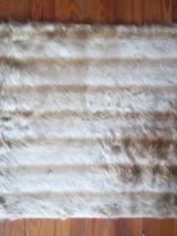 Authentique descente de lit/tapis en moumoute - Années 70