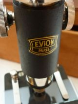 microscope avec sa boite années 40 marque  E.VION Paris
