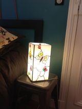 Lampe en pâte de verre type Tiffany type Art Nouveau