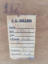Enfilade en teck et décor céramique – années 60