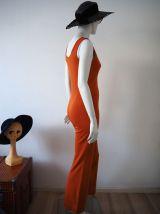 Combinaison pantalon pattes d'éléphant orange funky 70's