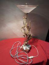 lampe bronze laiton motif