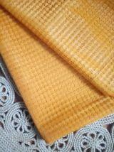 Jolie paire de rideaux orange (vintage)