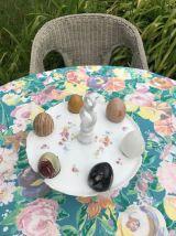 Présentoir / serviteur à œufs en porcelaine
